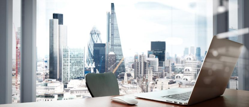 Office with city views